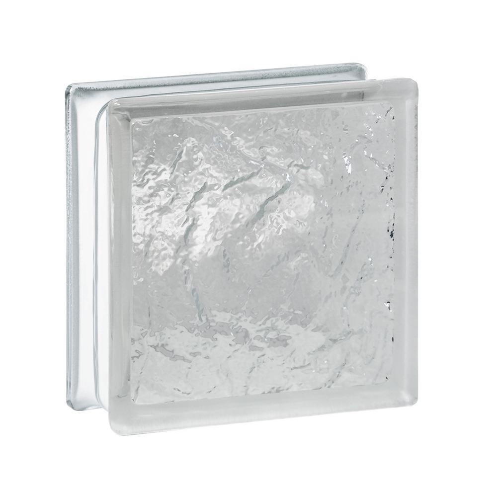 TAFCO WINDOWS 6 in. x 6 in. x 3-1/8 in. Wave Pattern Glass Block 10 ...