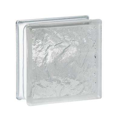 Cortina 5.75 in. x 5.75 in. x 3.12 in. Ice Pattern Glass Block (10-Pack)