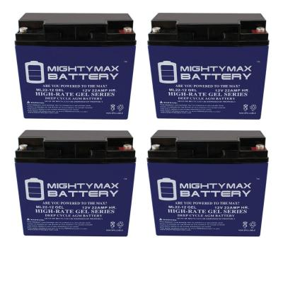 12-Volt 22 Ah SLA GEL AGM Type Replacement Battery (4-Pack)