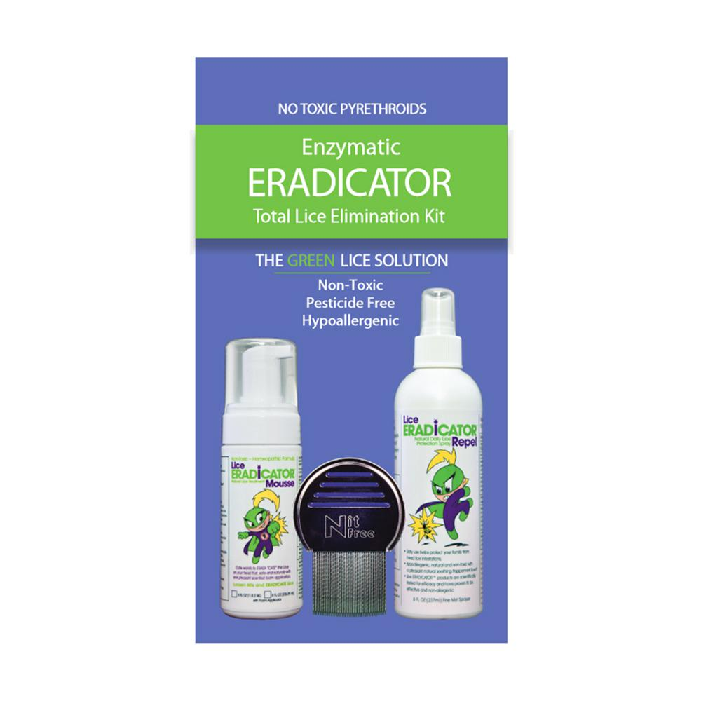 Lice ERADICATOR Foam Natural and Non-Toxic Mousse Treatment and Repel Protection