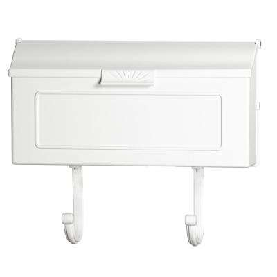 White Classic Cast Aluminum Wall Mount Mailbox