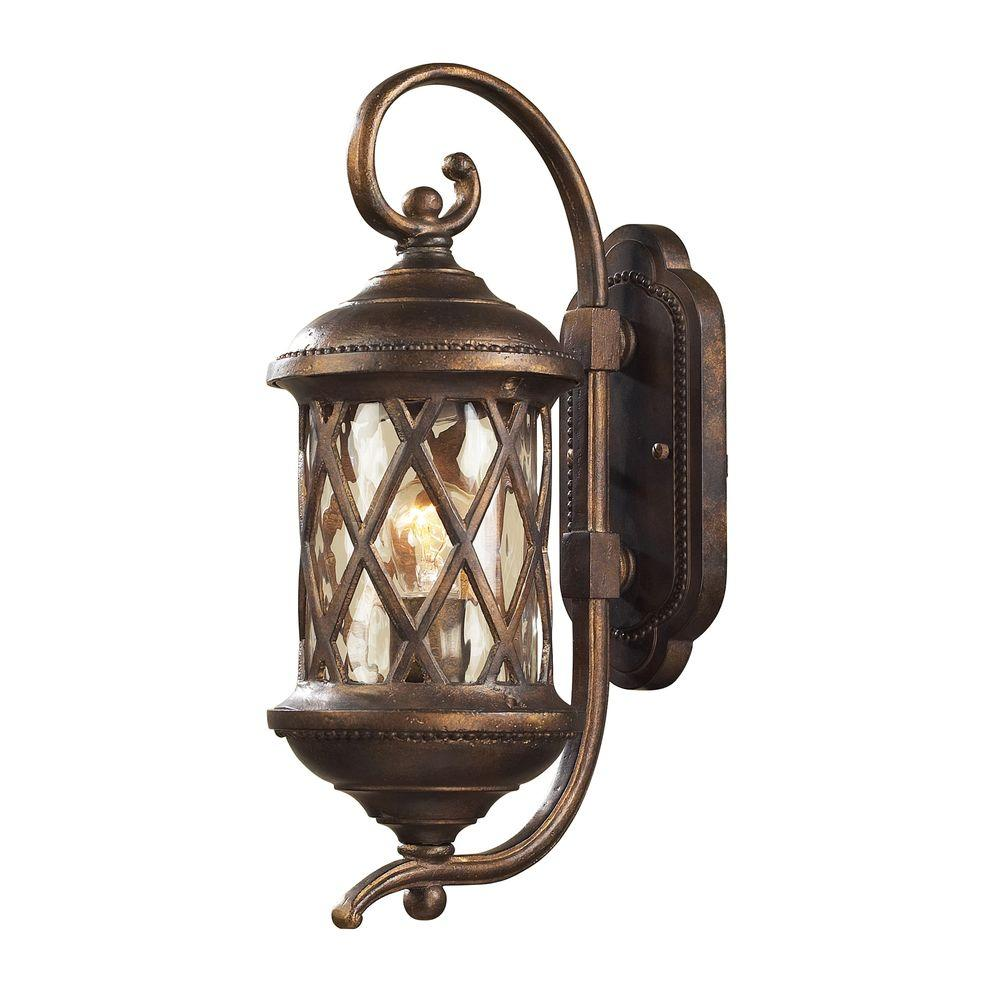 Barrington Gate 1 Light Hazelnut Bronze Outdoor Wall-Mount Sconce