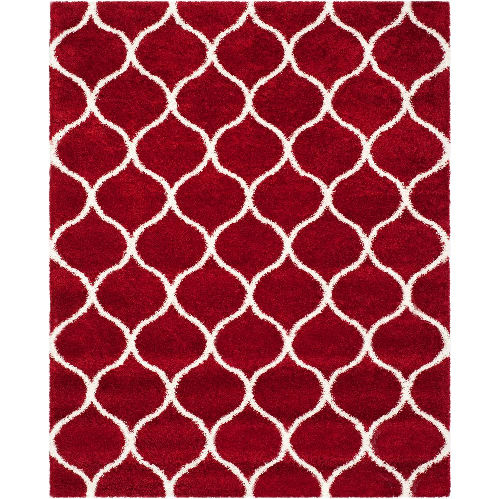 Red 8 X 10 Shag Area Rugs Rugs The Home Depot