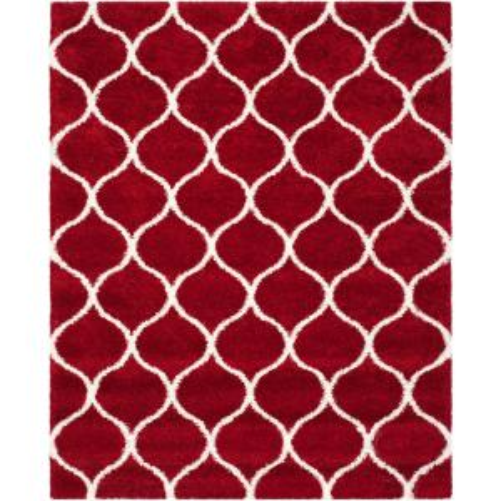 Safavieh Hudson Shag Red Ivory 8 Ft X 10 Ft Area Rug