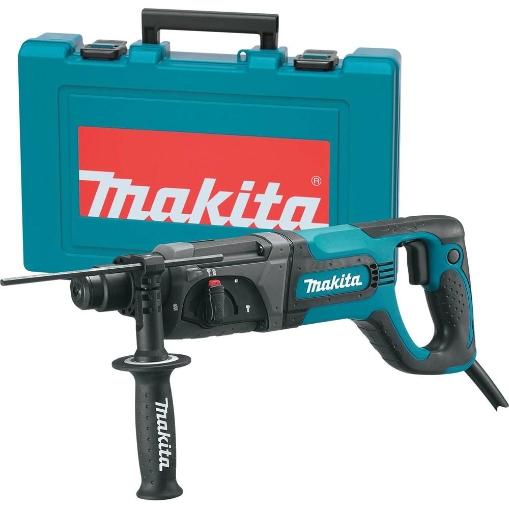 Makita 7 Amp Corded 1 inch SDS-Plus Concrete/Masonry Rotary Hammer Drill w/ Side Handle and Hard Case