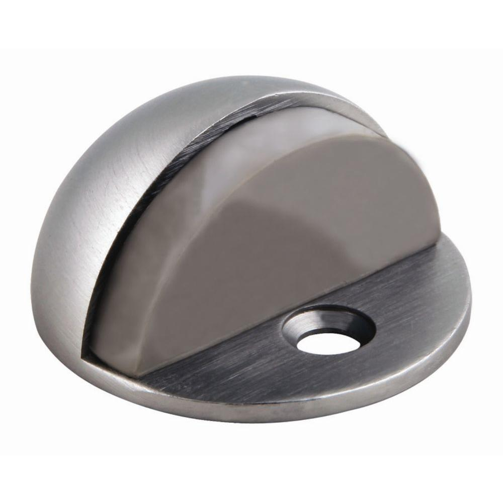 Design House Satin Nickel Floor Mount Dome Door Stop  sc 1 st  Home Depot : door stopers - pezcame.com