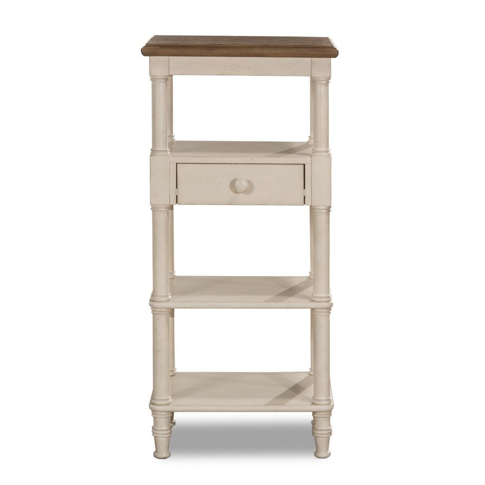 Seneca Tall Basket Stand with Middle Drawer - Baskets Not Included