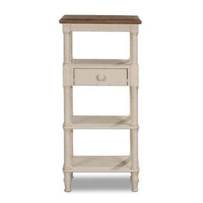 Seneca Tall Basket Stand with Middle Drawer - Baskets Not Included in Driftwood