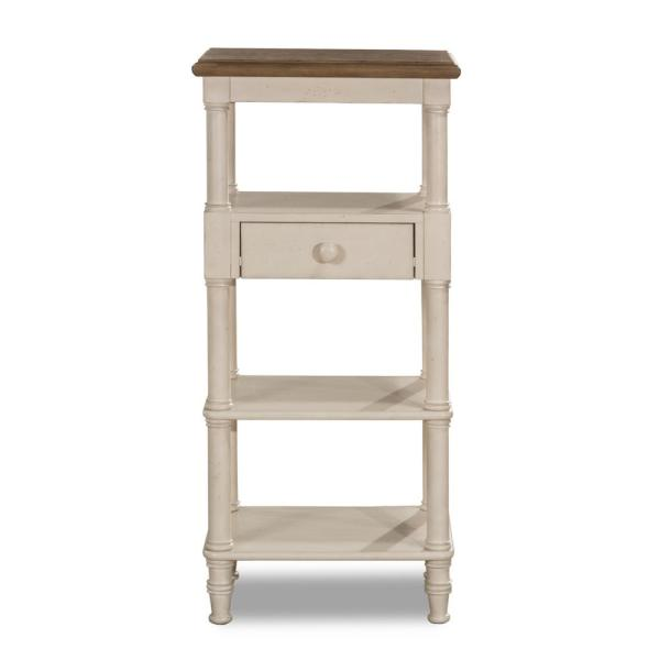 Hillsdale Furniture Seneca Tall Basket Stand with Middle Drawer - Baskets
