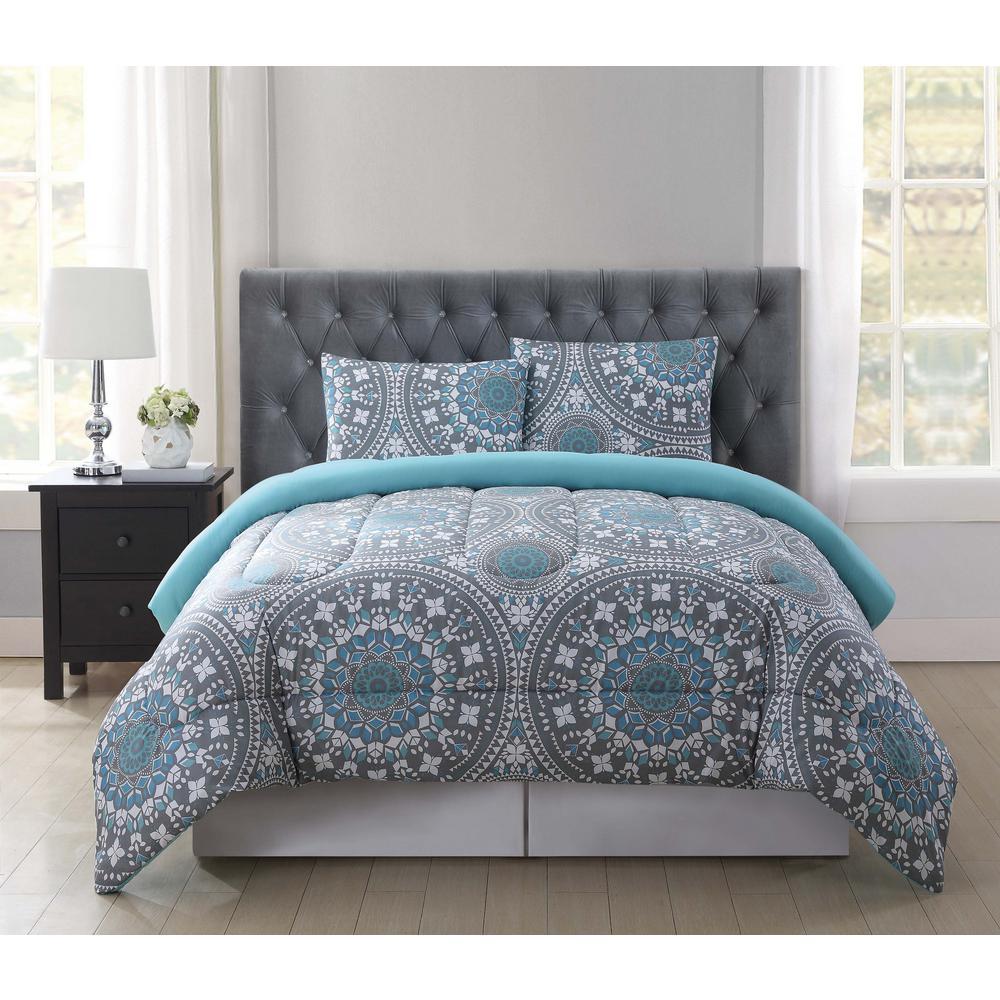truly soft kalen multicolor twin xl comforter setcstxl  - truly soft kalen multicolor twin xl comforter set