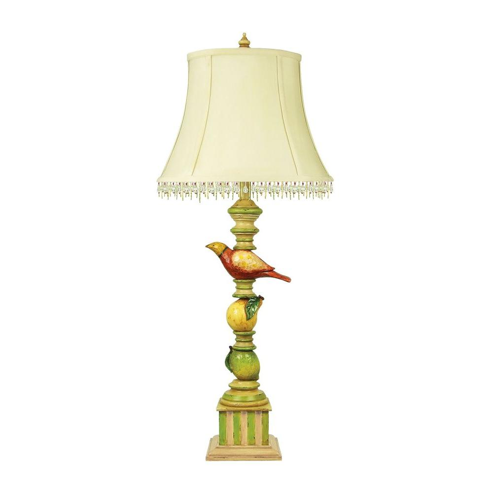 Titan Lighting 1-Light 34 in. Le Jardin Candlestick Lamp-DISCONTINUED
