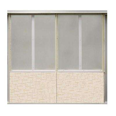 20 sq. ft. Crosstown Ray Fabric Covered Bottom Kit Wall Panel