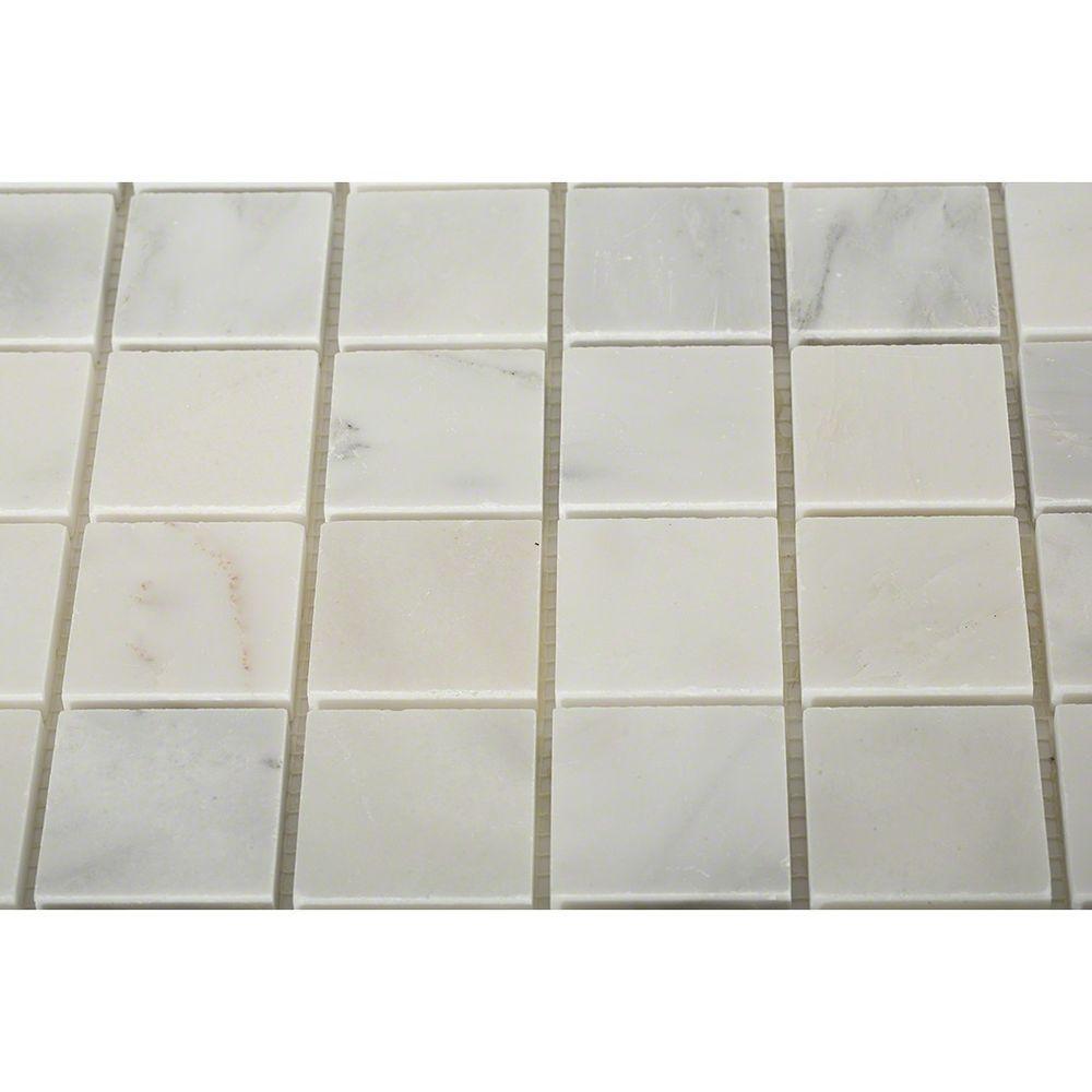 Sample of Asian Statuary 2X2 Honed Marble Tile - 3 in. x 6 in. Tile Sample