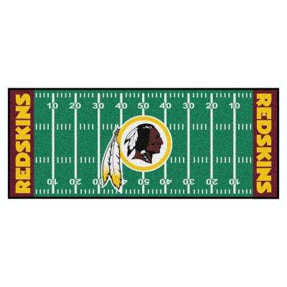 NFL -Washington Redskins Green 3 ft. x 6 ft. Indoor Football Field Runner Rug
