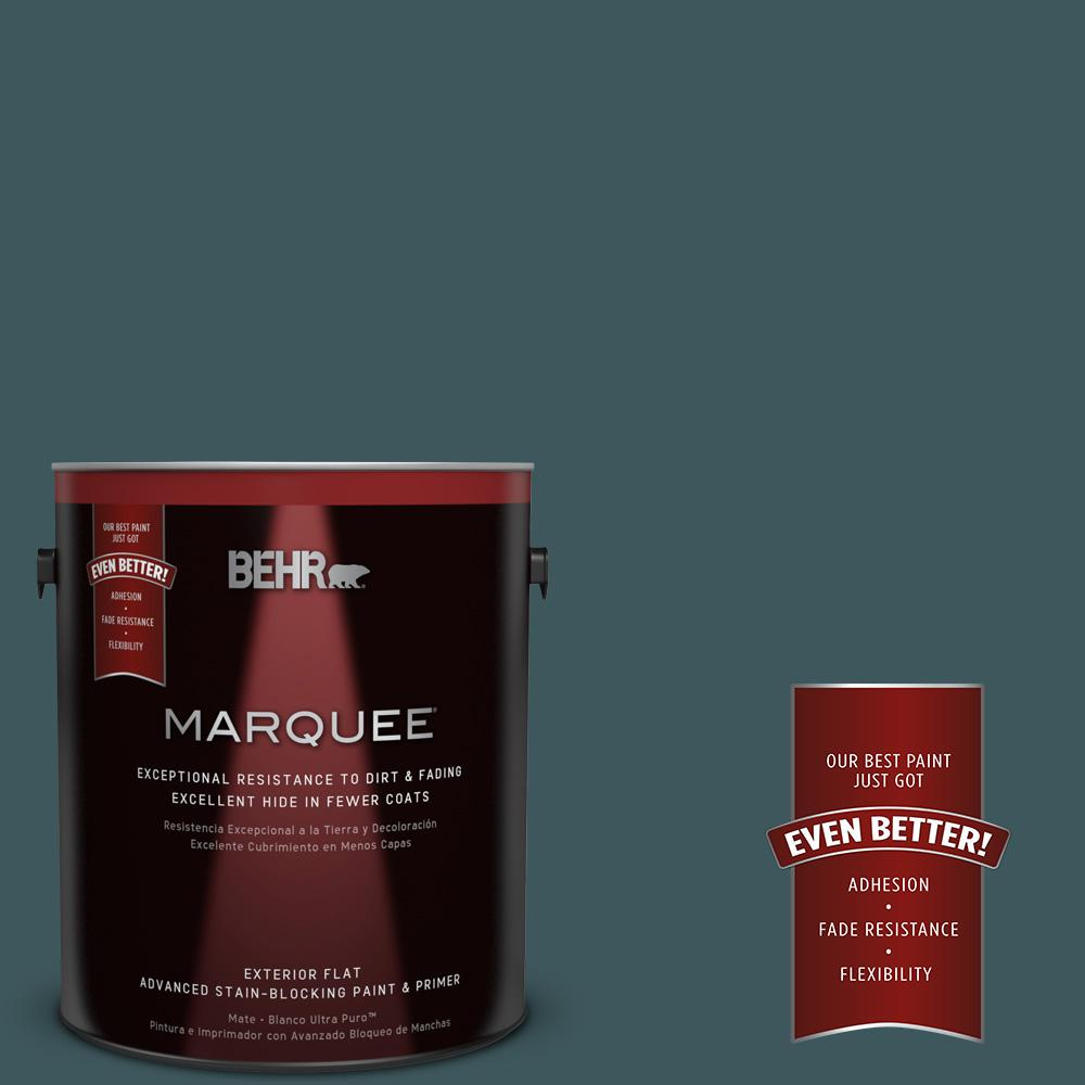 1-gal. #510F-7 Teal Forest Flat Exterior Paint