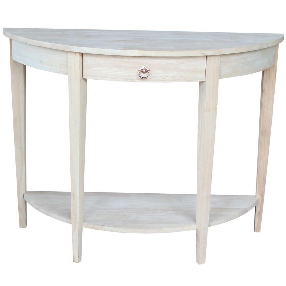 Console tables accent tables the home depot unfinished storage console table geotapseo Image collections