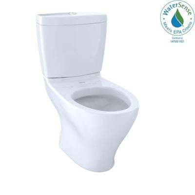 Aquia 2-Piece 0.9/1.6 GPF Dual Flush Elongated Toilet with 10 in. Rough-In in Cotton White