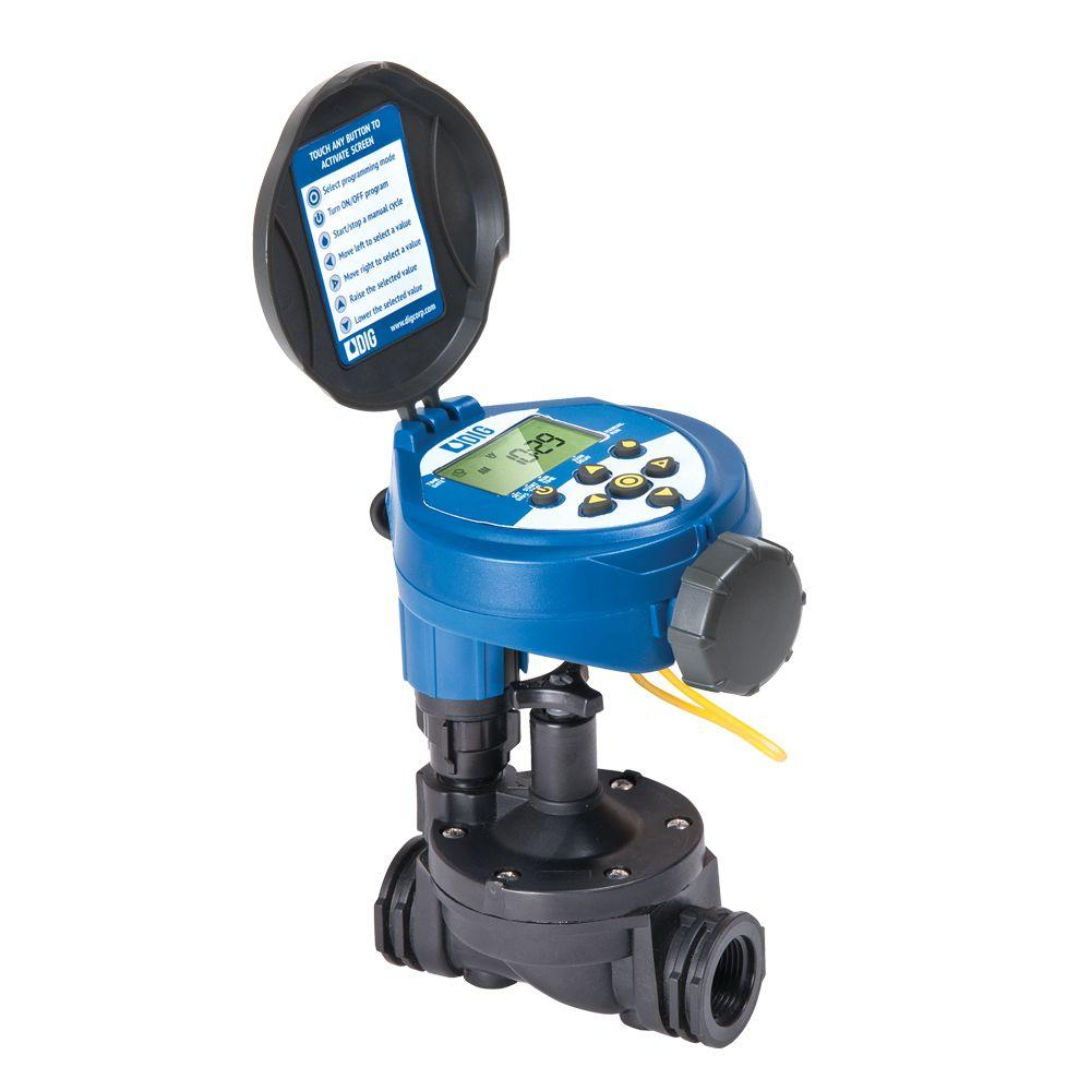 DIG Solar Powered Irrigation Timer with Anti-Siphon Valve-ECO1ASV ...