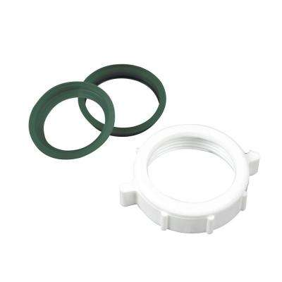 1-1/2 in. Plastic Slip Joint Nut with 1-1/2 in. Reducing Washer