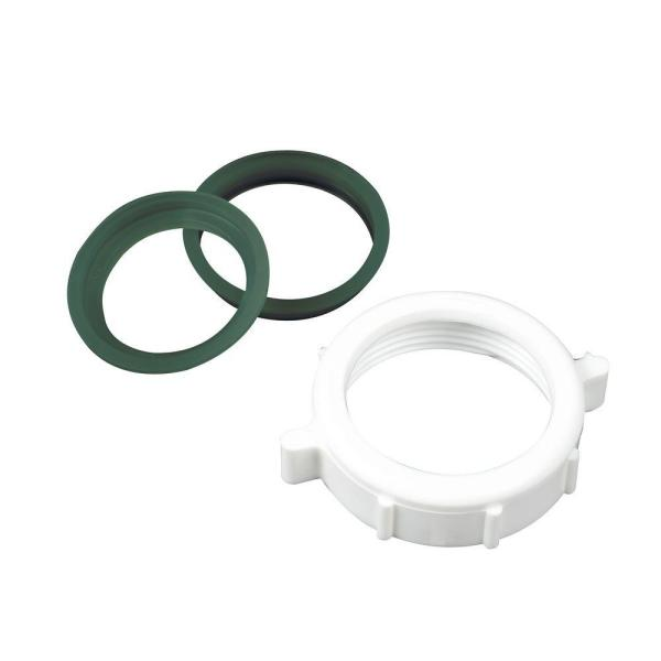 1-1/2 in. Sink Drain Pipe Plastic Slip-Joint Nut with Rubber Reducing Washers