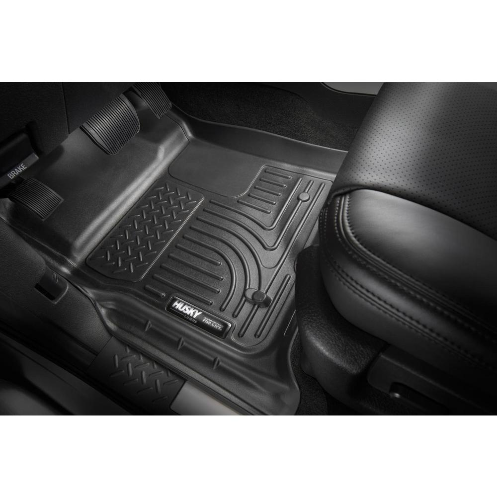 Husky Liners Fits 2017-19 Ford F-250//F-350 Crew Cab//SuperCab X-act Contour Front Floor Mats