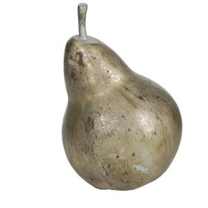 A&B Home 11.5 inch H Pear Decorative Sculpture in Aged Gold by A&B Home