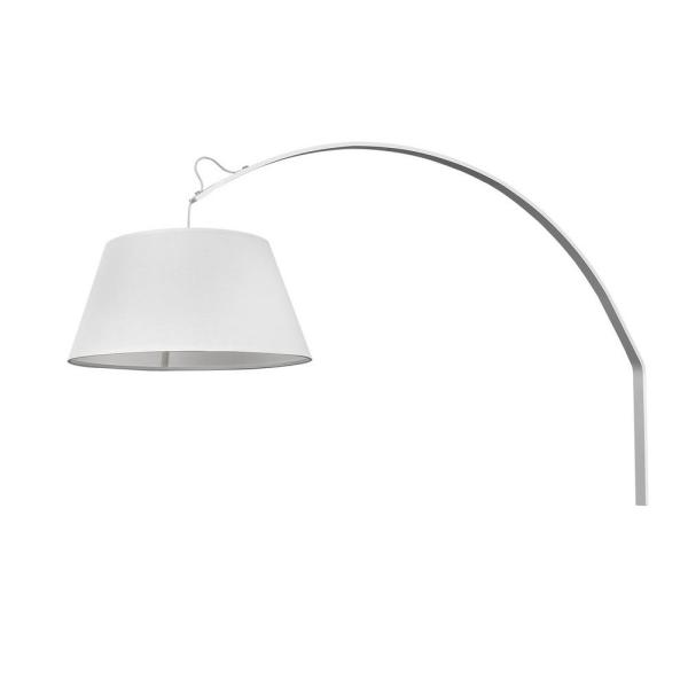 Della 1-Light White Sconce
