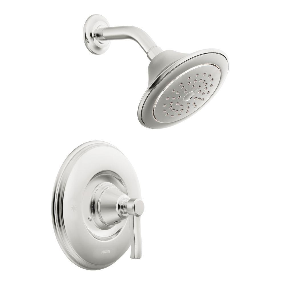 moen rothbury 1 handle shower only trim in brushed nickel valve not