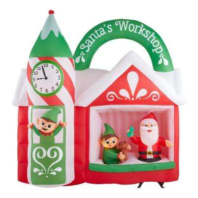 Gemmy Airblown Christmas Inflatables Outdoor Christmas Decorations The Home Depot