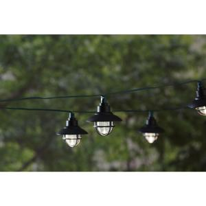 Solar Powered Black Nautical String Light