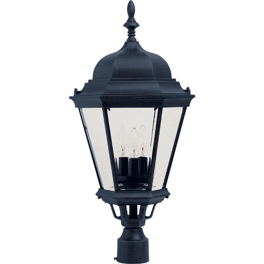 Light Black Outdoor Pole Post Mount