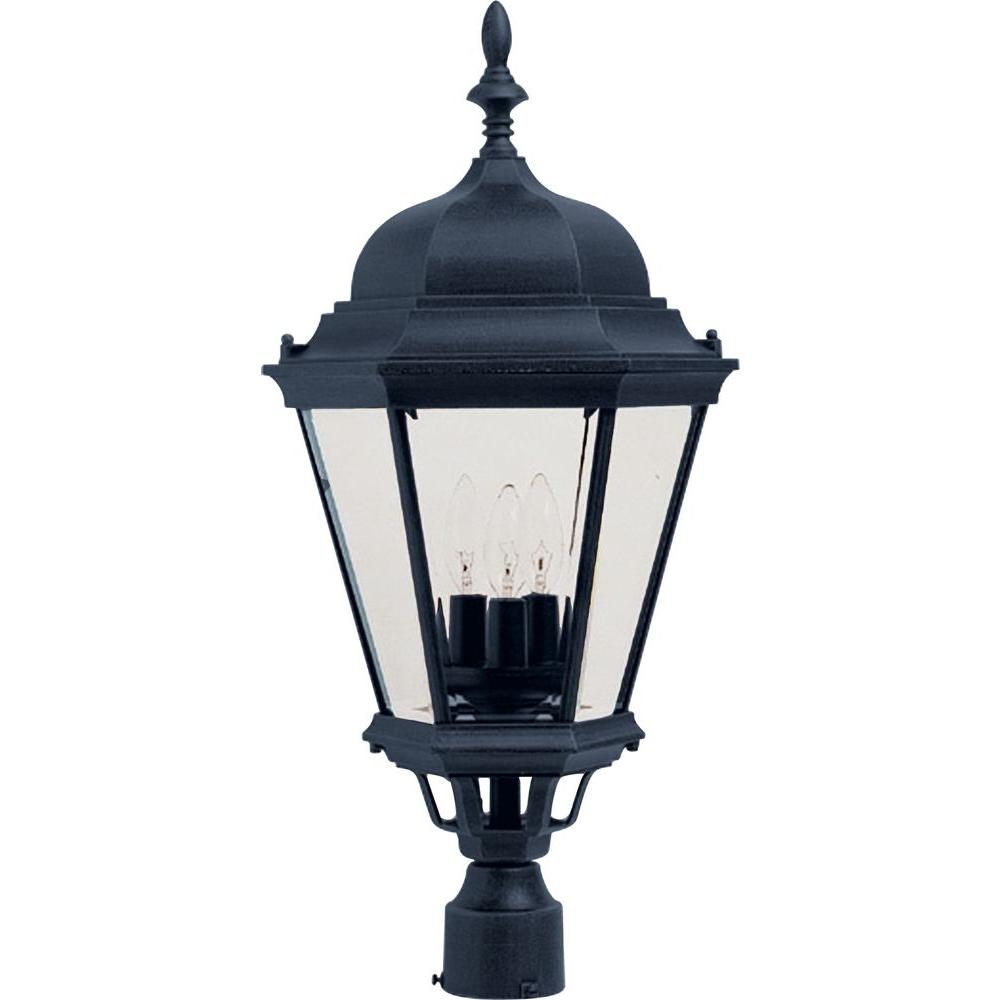 Maxim Lighting Westlake 3 Light Black Outdoor Pole Post Mount