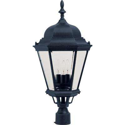 Westlake 3-Light Black Outdoor Pole/Post Mount