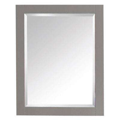Transitional 32 in. L x 24 in. W Framed Wall Mirror in Chilled Gray