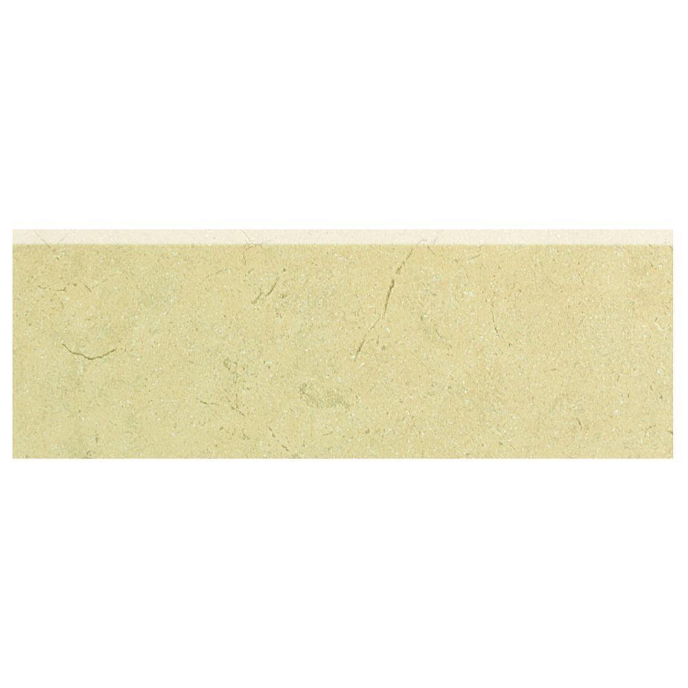 Marissa Crema Marfil 2 in. x 6 in. Ceramic Bullnose Wall Tile