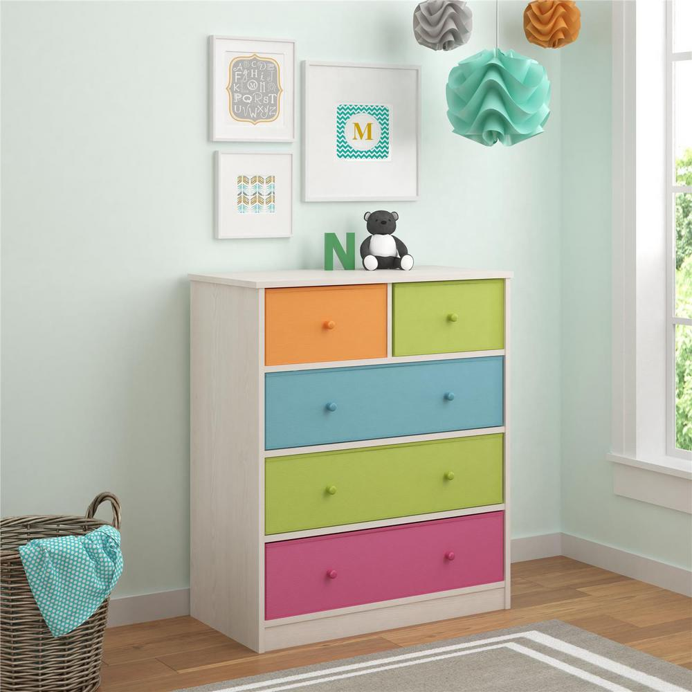 Applegate 5-Drawer White Dresser
