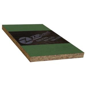 Huber 7 16 In 4 Ft X 8 Zip Osb Wall Sheathing 777198 The Home Depot