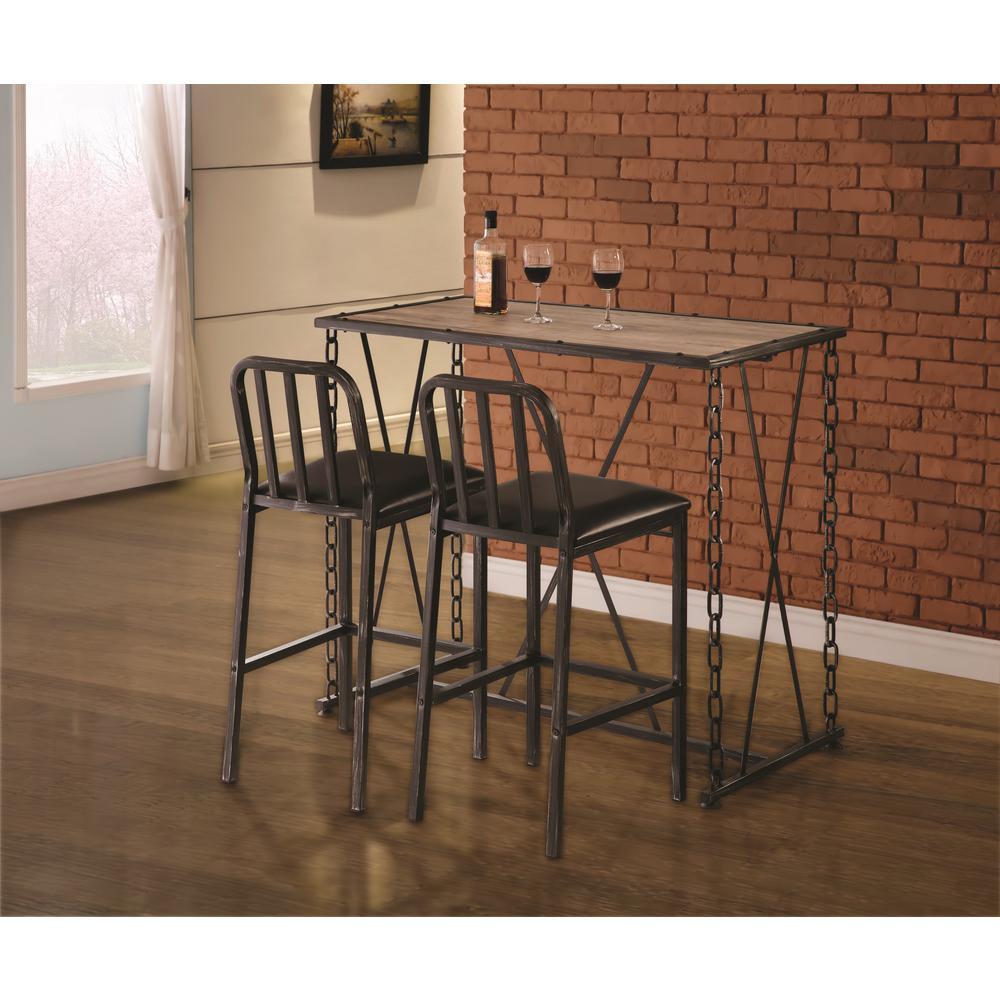 Coaster Furniture Rec Room 29 in. Industrial Brushed Blac...