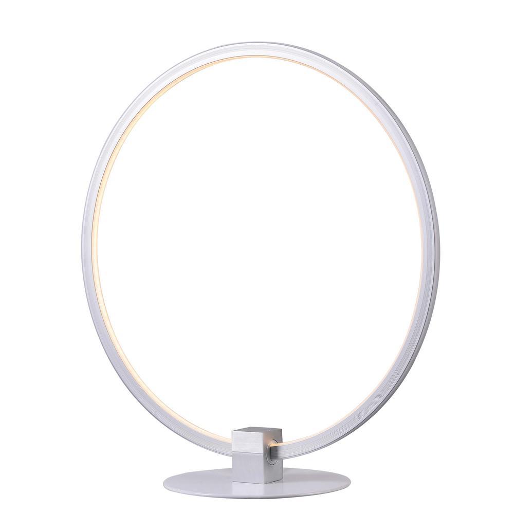 Aurora 15 in. White Indoor Table Lamp