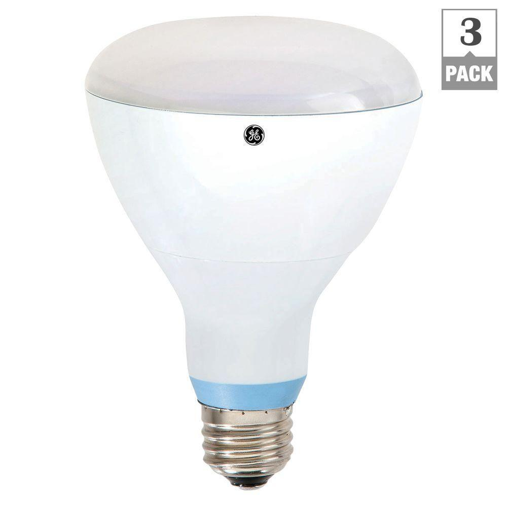 GE Reveal 65W Equivalent Reveal (2,700K) BR30 Dimmable LED Light Bulbs (3-Pack)