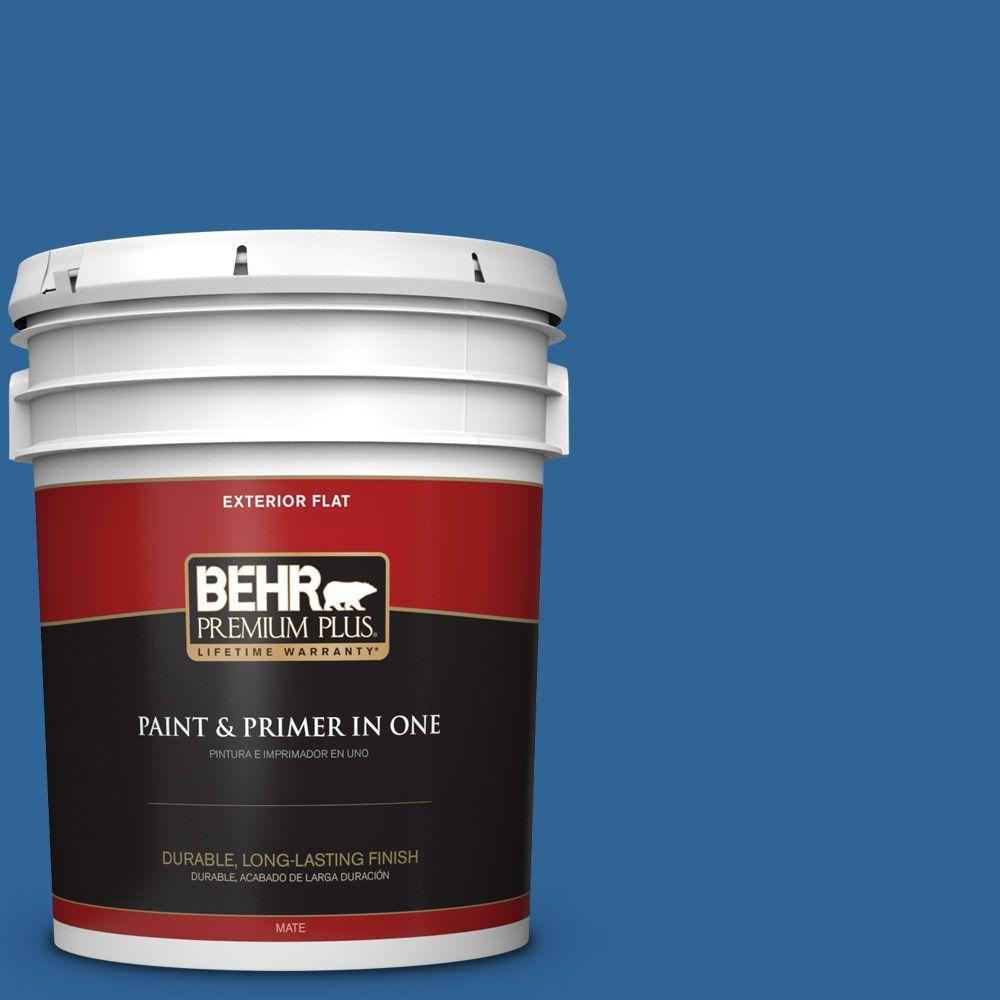 BEHR Premium Plus 5-gal. #580B-7 American Anthem Flat Exterior Paint