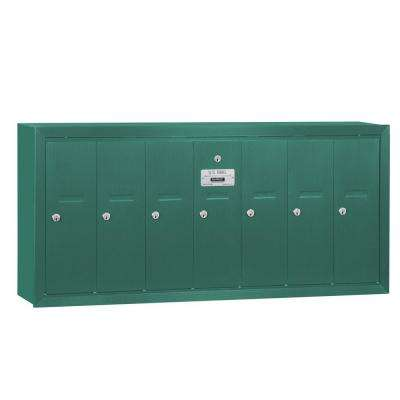 Green Surface-Mounted USPS Access Vertical Mailbox with 7 Door