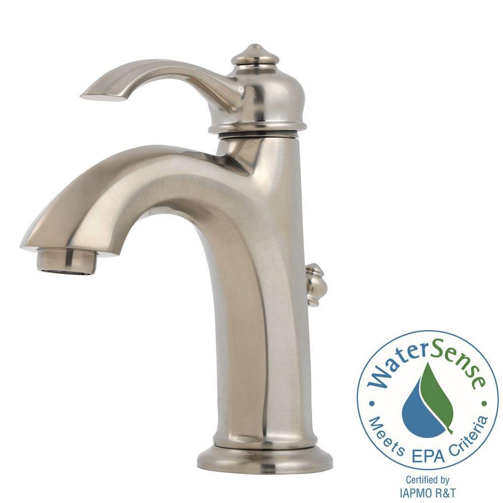 Pfister portola 4 in centerset single handle bathroom - Lowes price pfister bathroom faucets ...