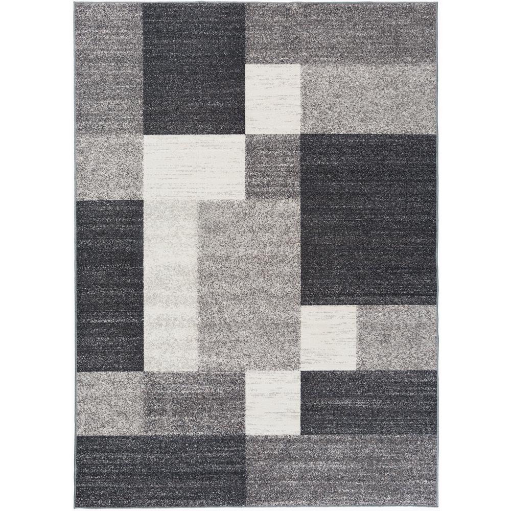 Modern Bo Design Non Slip Skid Gray Area Rug 8 Ft