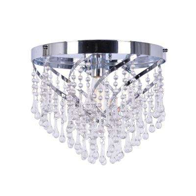 Carrie 1-Light Chrome Flush Mount Light