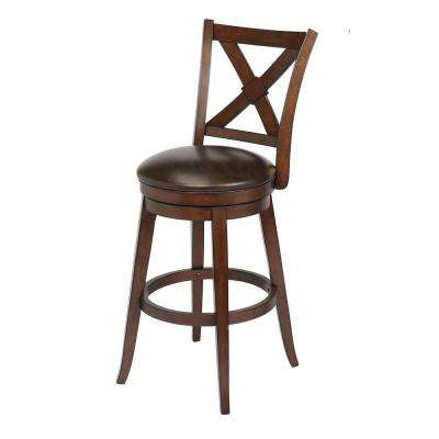 Bailey 29 in. Walnut Bar Height Swivel Bar Stool (Individual)