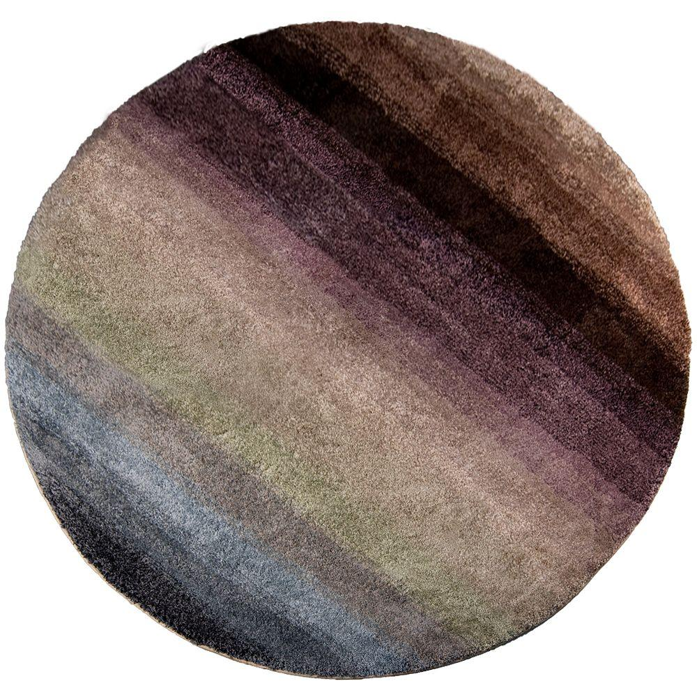 Orian Rugs Layers Rainbow 7 ft. 10 in. Round Area Rug