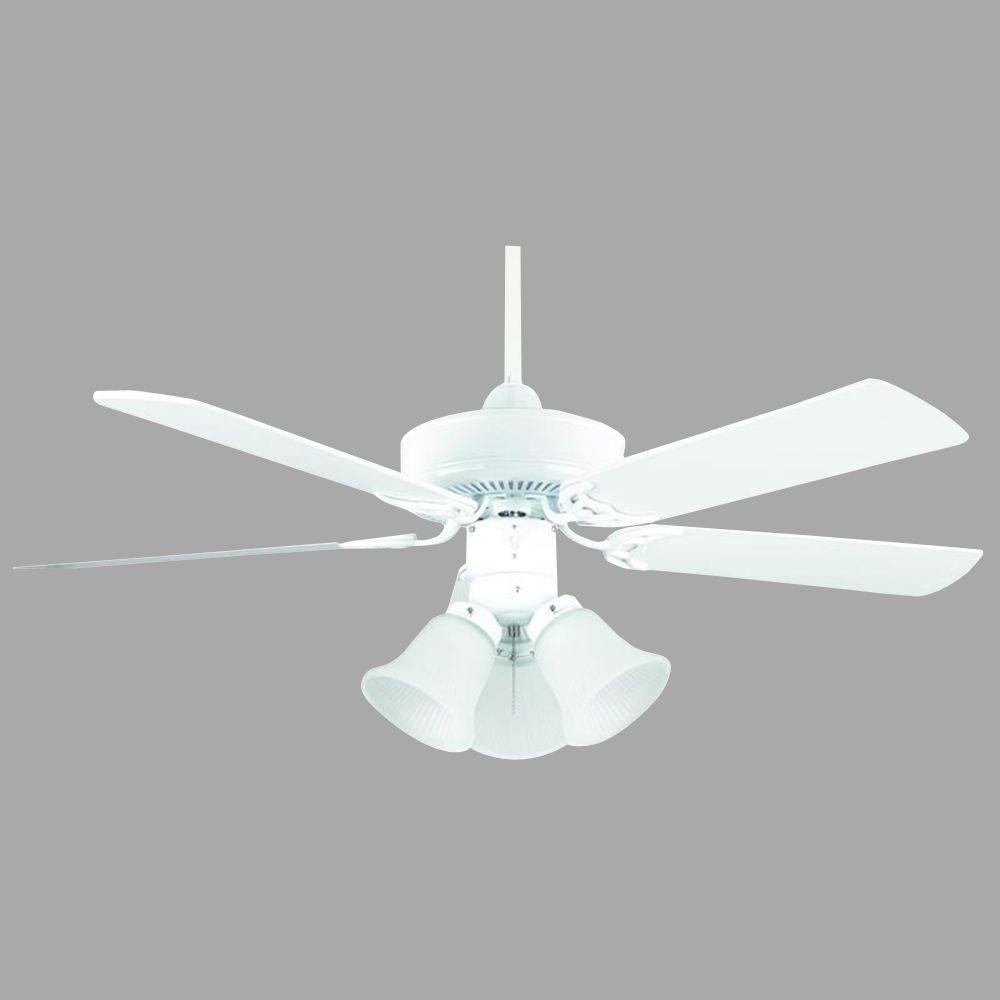Concord Fans Heritage Home Series 42 in. Indoor White Ceiling Fan ...