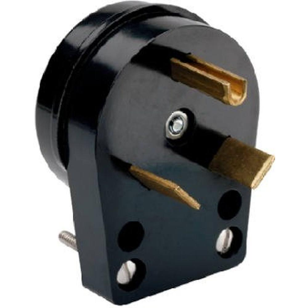 Eaton 30 Amp Heavy-Duty Grade Angled Power Plug with 3-Wire ...