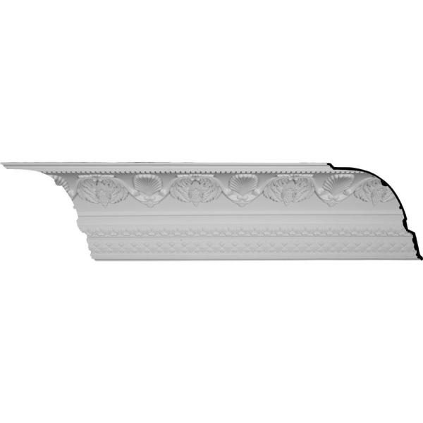 14-1/8 in. x 16-3/8 in. x 94-1/2 in. Polyurethane Cove Harvest Crown Moulding